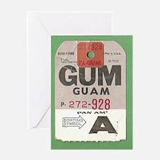 Guam Luggage Tag Greeting Card