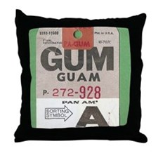 Guam Luggage Tag Throw Pillow