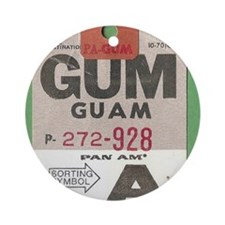 Guam Luggage Tag Round Ornament