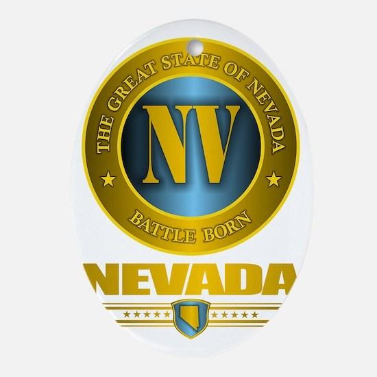 Nevada Gold Oval Ornament