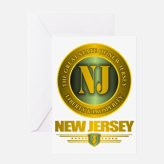 New Jersey Gold Label Greeting Card