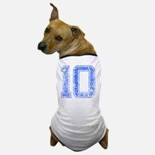 10, Blue, Vintage Dog T-Shirt