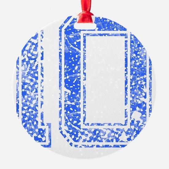 10, Blue, Vintage Ornament
