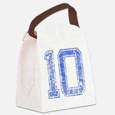 10, Blue, Vintage Canvas Lunch Bag