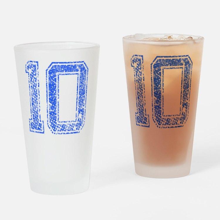 10, Blue, Vintage Drinking Glass