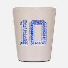 10, Blue, Vintage Shot Glass