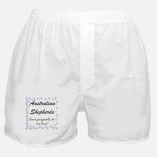 Aussie Pawprints Boxer Shorts