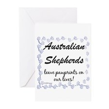 Aussie Pawprints Greeting Cards (Pk of 10)