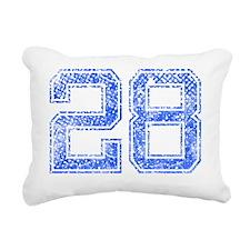 28, Blue, Vintage Rectangular Canvas Pillow