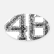 48, Vintage Oval Car Magnet