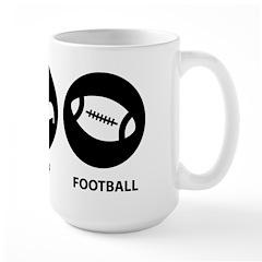 Eat Sleep Football Mug