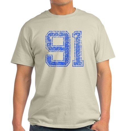 91, Blue, Vintage Light T-Shirt