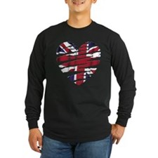 UK Painted Heart T