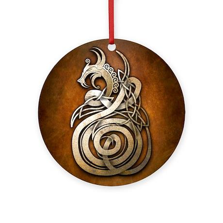 Norse Dragon Round Ornament