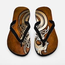 Norse Dragon Flip Flops