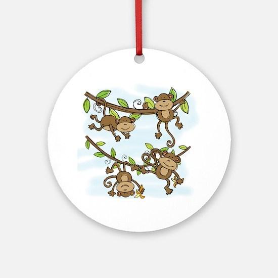 Monkey Shine Round Ornament