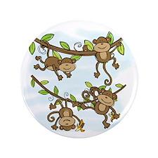 """Monkey Shine 3.5"""" Button"""