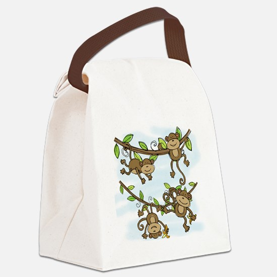 Monkey Shine Canvas Lunch Bag