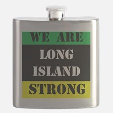 WE ARE LONG ISLAND STRONG Flask