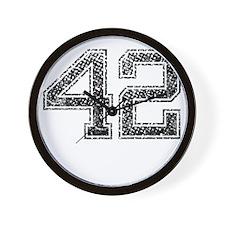 42, Vintage Wall Clock