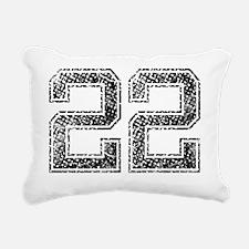 22, Vintage Rectangular Canvas Pillow