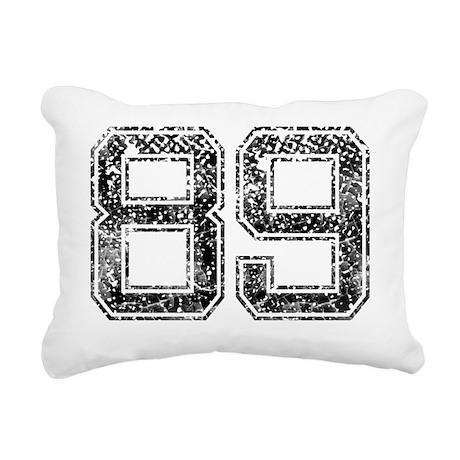 89, Vintage Rectangular Canvas Pillow