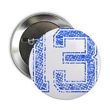 """13, Blue, Vintage 2.25"""" Button"""