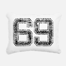69, Vintage Rectangular Canvas Pillow