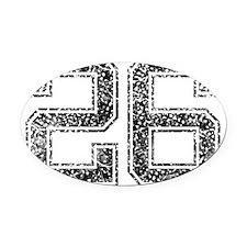 26, Vintage Oval Car Magnet