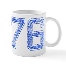 76, Blue, Vintage Mug