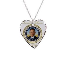 Keepsake President Obama Re-E Necklace
