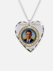 Keepsake President Obama Re-E Necklace