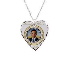 Keepsake President Obama Re-E Necklace Heart Charm