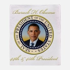 Keepsake President Obama Re-Election Throw Blanket