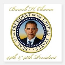 "Keepsake President Obama Square Car Magnet 3"" x 3"""