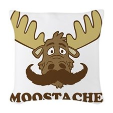 Moostache Woven Throw Pillow