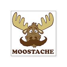 """Moostache Square Sticker 3"""" x 3"""""""