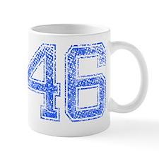 46, Blue, Vintage Mug