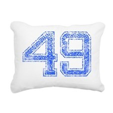 49, Blue, Vintage Rectangular Canvas Pillow