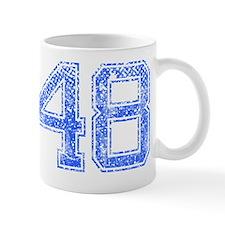 48, Blue, Vintage Small Mug
