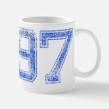97, Blue, Vintage Mug