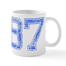 87, Blue, Vintage Mug
