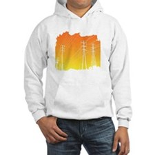 All Over Powerlines design Hoodie
