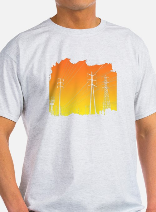All Over Powerlines design T-Shirt