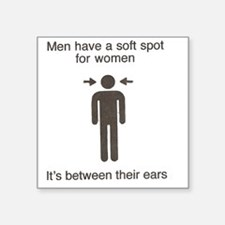 "Male soft spot Square Sticker 3"" x 3"""
