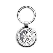 Wing Chun Logo Round Keychain
