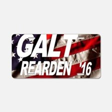 Galt Rearden 2016 Aluminum License Plate