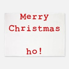 Merry Christmas ho! 5'x7'Area Rug