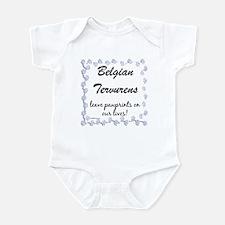 Tervuren Pawprints Infant Bodysuit