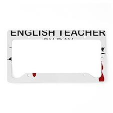 English Teacher Zombie License Plate Holder